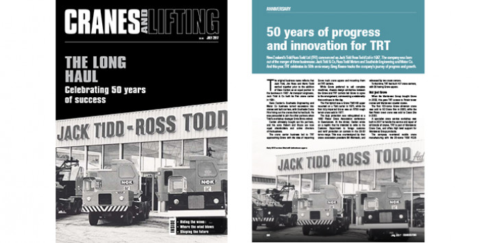 TRT Feature Article in Cranes and Lifting