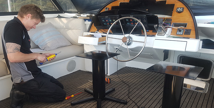 Marine seat refurbishment lets owners kick back for the summer 4
