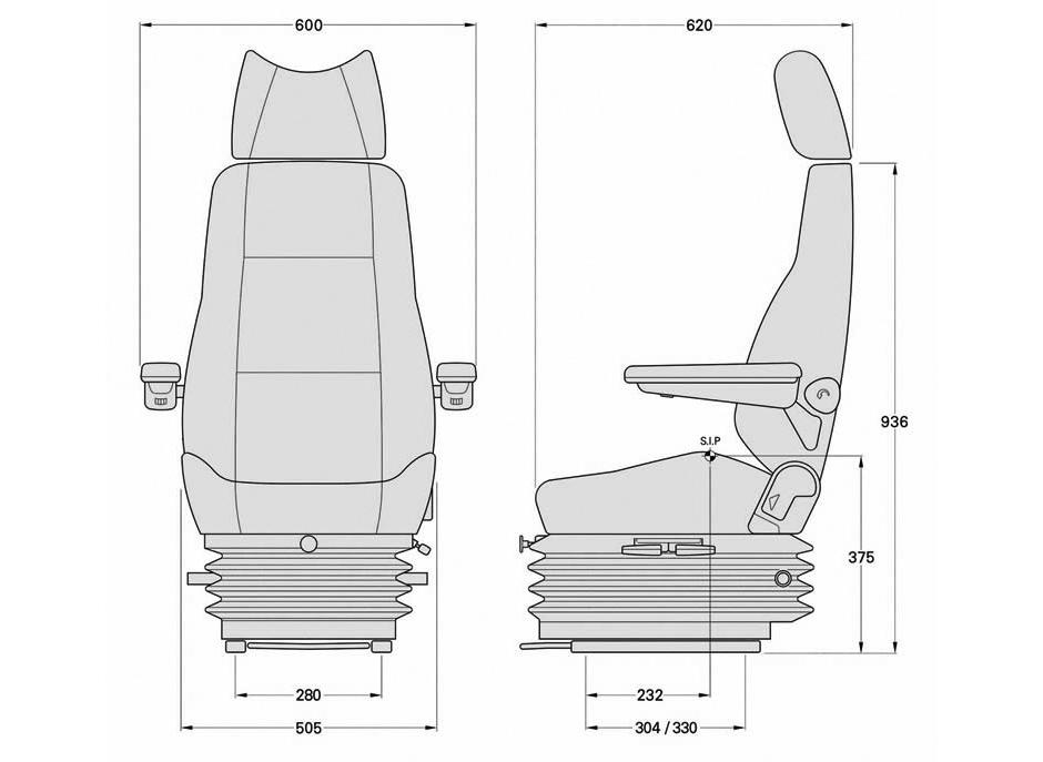 KAB 564 Machinery Seat | TRT Seating