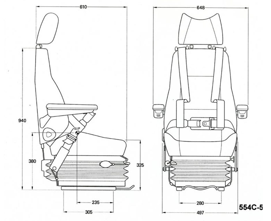 KAB 514C Marine Seating with Harness