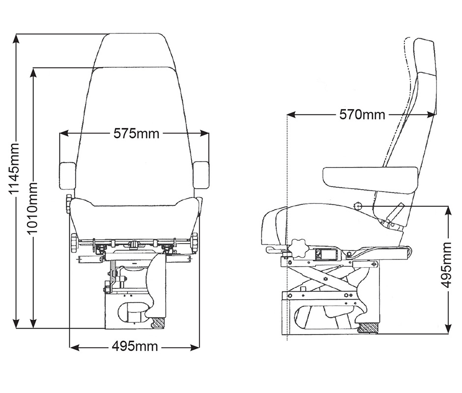kab 714 truck seat trt seating Freightliner M2 Air Brake System bostrom t915 diagram
