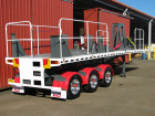 Equipment trailer with safety handr