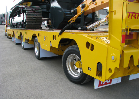 4x8 Swing Wing Widening Low Loader with rear steer